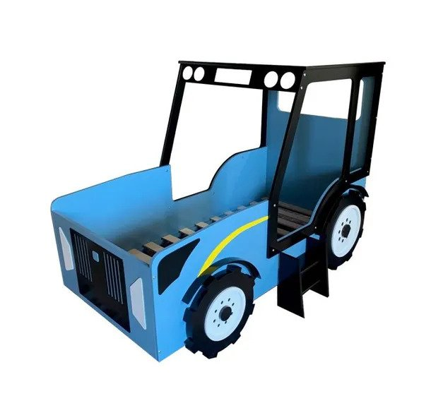 Blue tractor bed