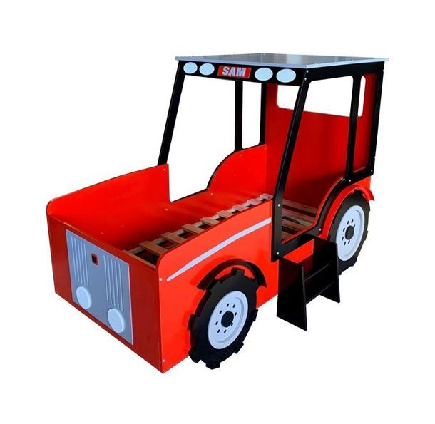 Red tractor bed