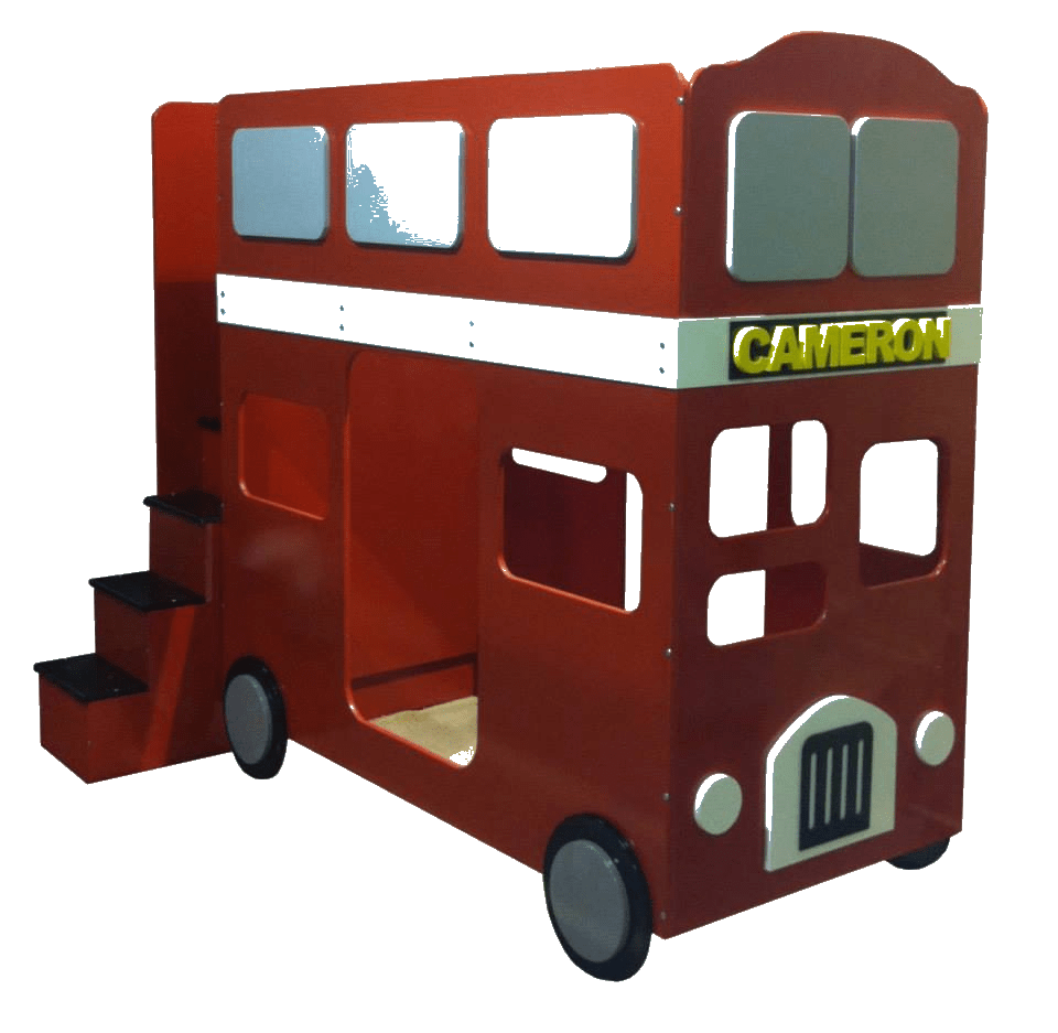 red bus bed